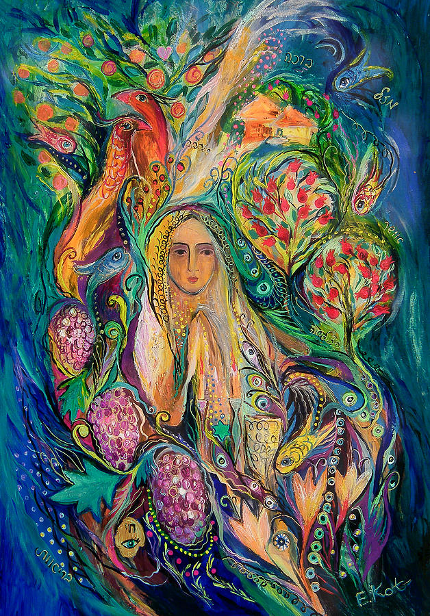 Original Painting - The Queen Of Shabbat by Elena Kotliarker