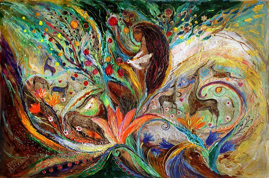 Judaica Store Painting - The Queen Of Sheba by Elena Kotliarker