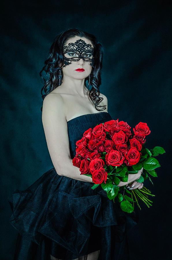 Black Woman Photograph - the Queen of spades by Maria Kozmina