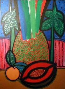 Blue Sky Painting - The Queen Of The Fields Of Cuba I by Jose Miguel Perez Hernandez
