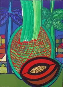 Blue Sky Painting - The Queen Of The Fields Of Cuba II by Jose Miguel Perez Hernandez