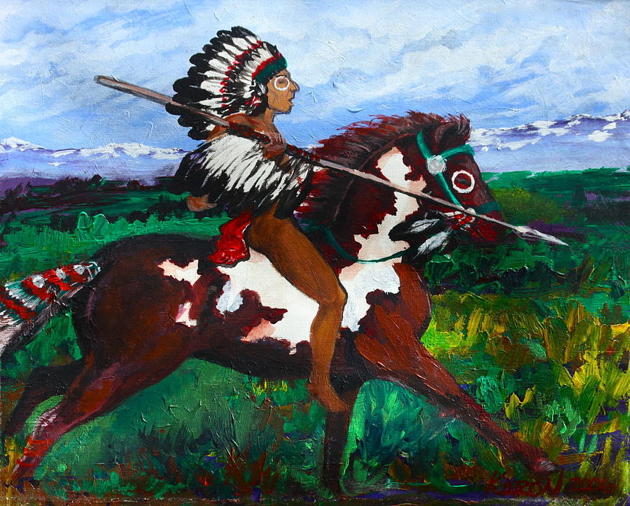 Native Painting - The Quest by Karon Melillo DeVega