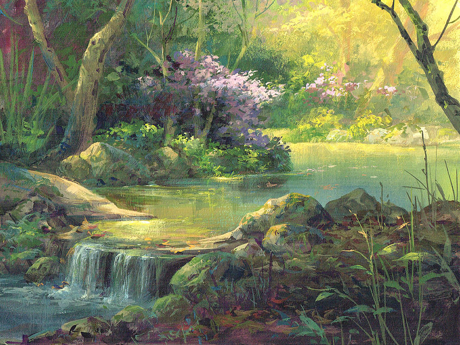 The Quiet Creek Painting By Michael Humphries