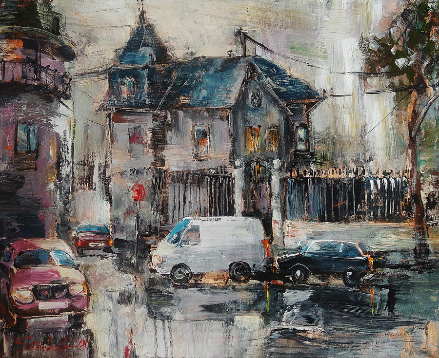 Cityscape Painting - The Quiet District by Stefano Popovski