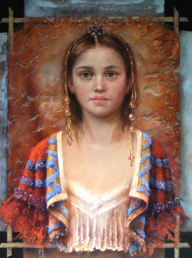 Girl Painting - The Quiet Girl by Loretta Fasan