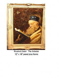 The Rabbi Painting by Richard Zolan