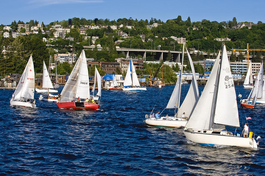 Seattle Photograph - The Race Is On by Tom Dowd