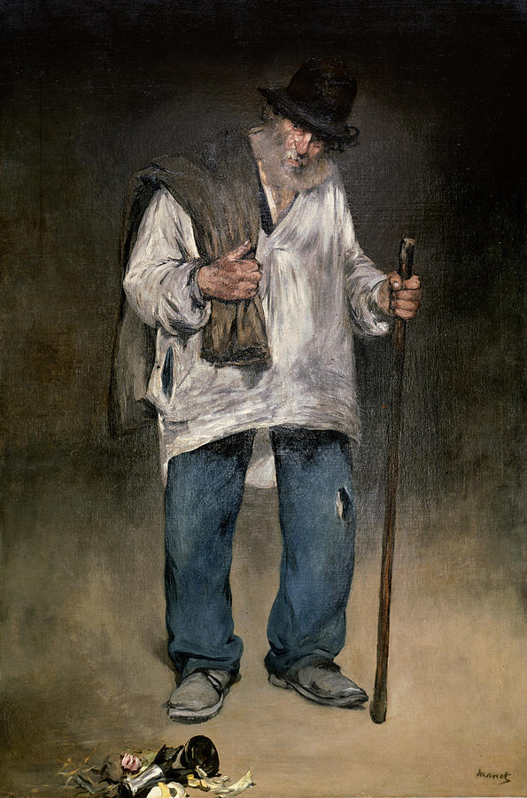 The Painting - The Ragman by Edouard Manet