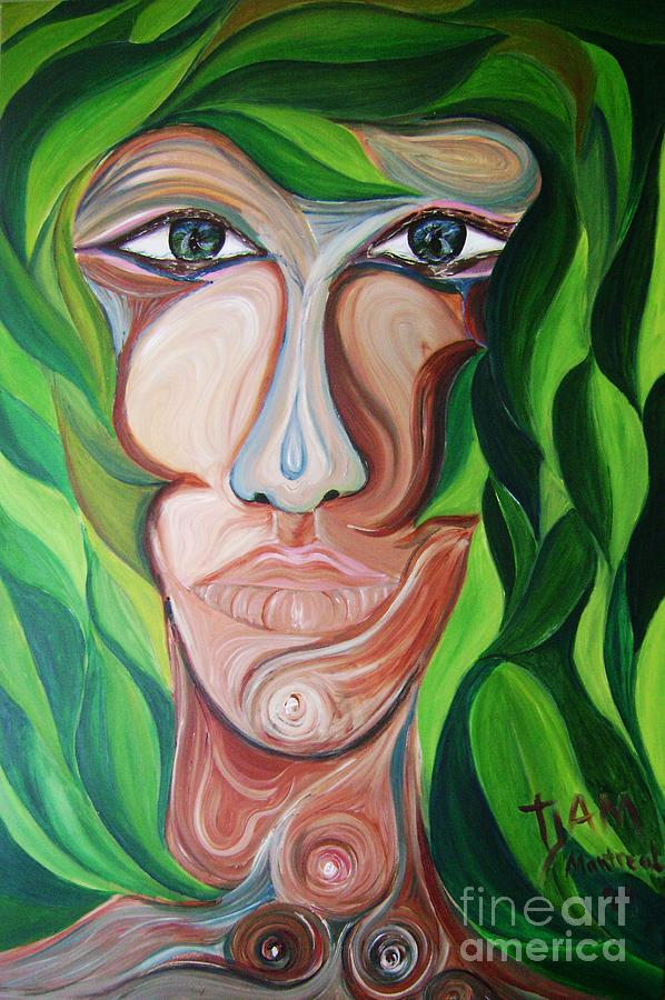 Rain Forest Painting - The Rain Forest Spirit by David Alvarado