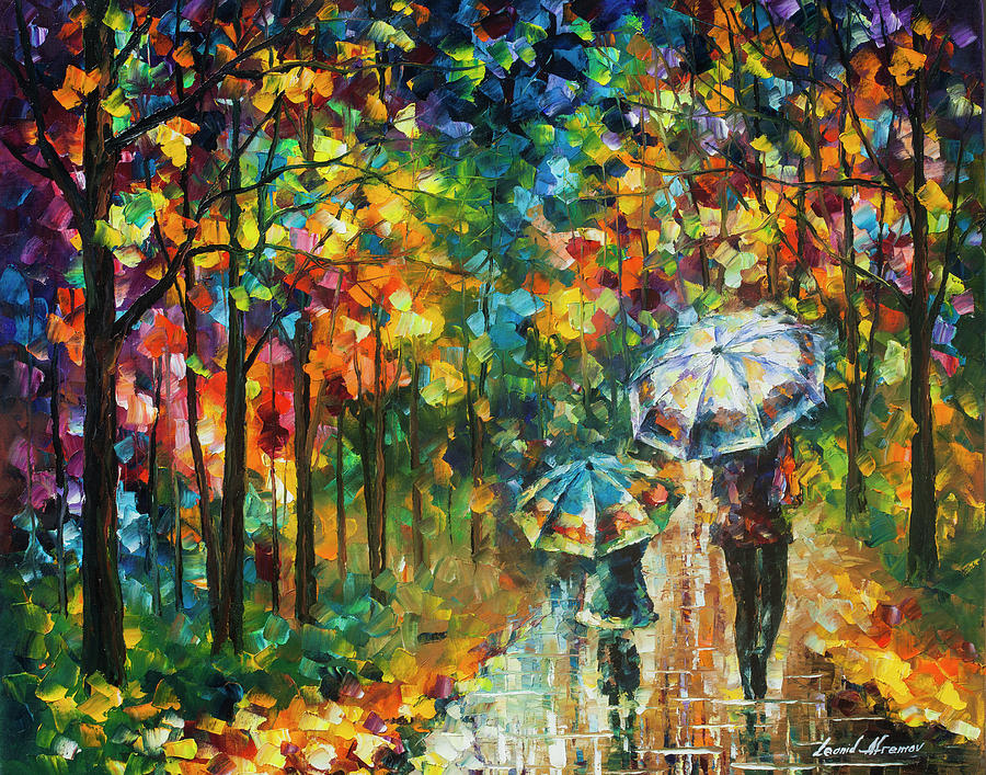 Painting Painting - The Rain Of Childhood by Leonid Afremov