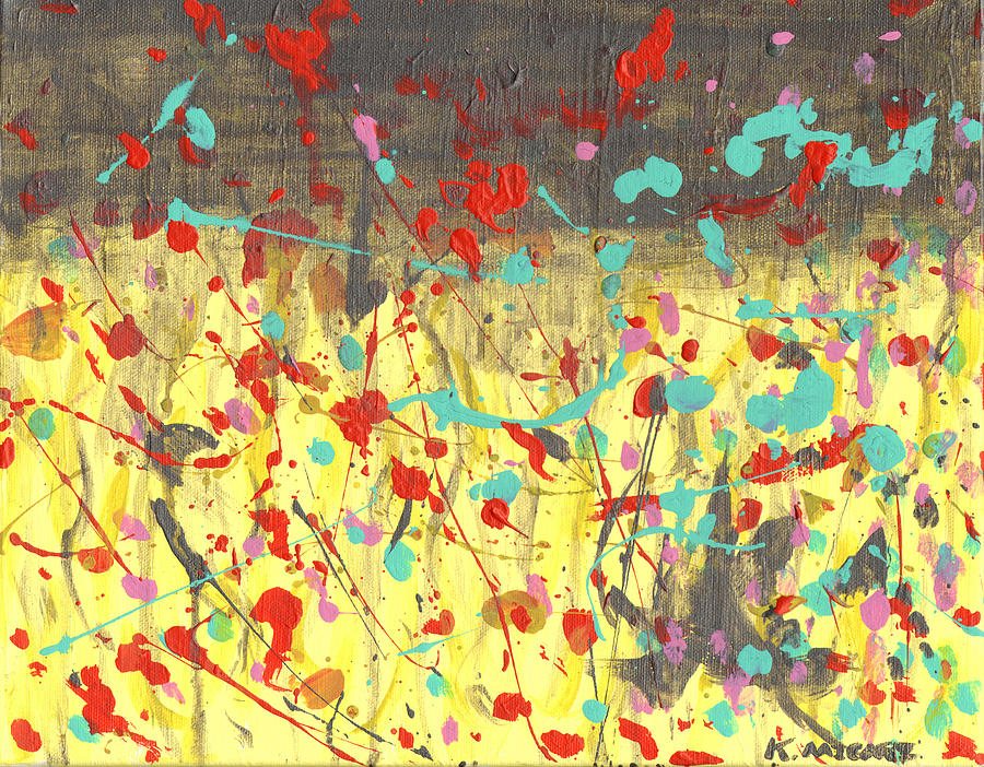 Abstract Painting - The Rain On My Parade by Kat Micari
