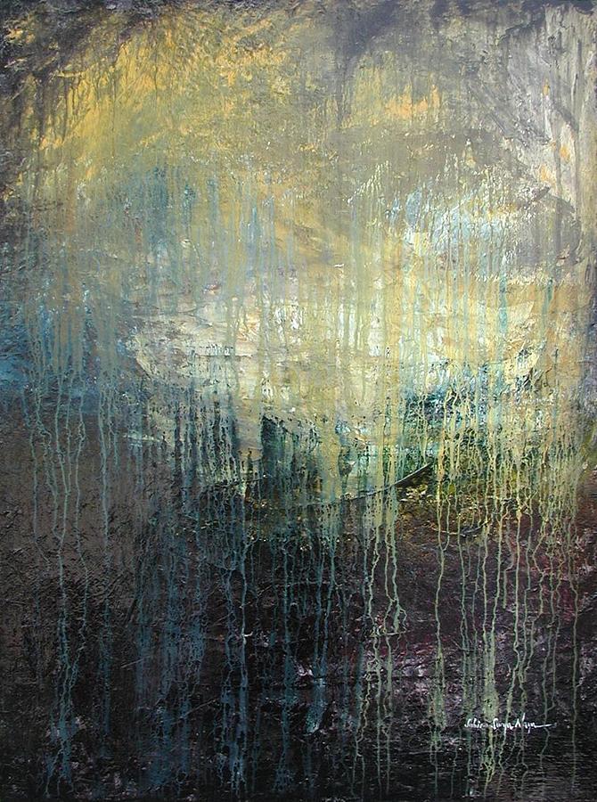 Abstract Painting - The Rain by Sabina Surya Naya