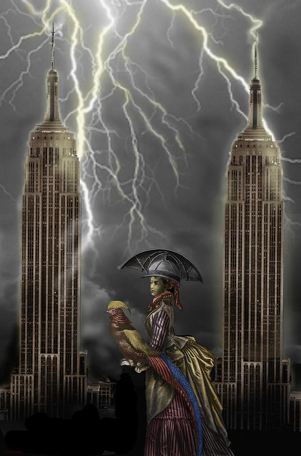 Surrealism Digital Art - The Rainmaker by Larry Butterworth