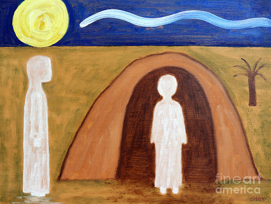 Easter Painting - The Raising Of Lazarus by Patrick J Murphy