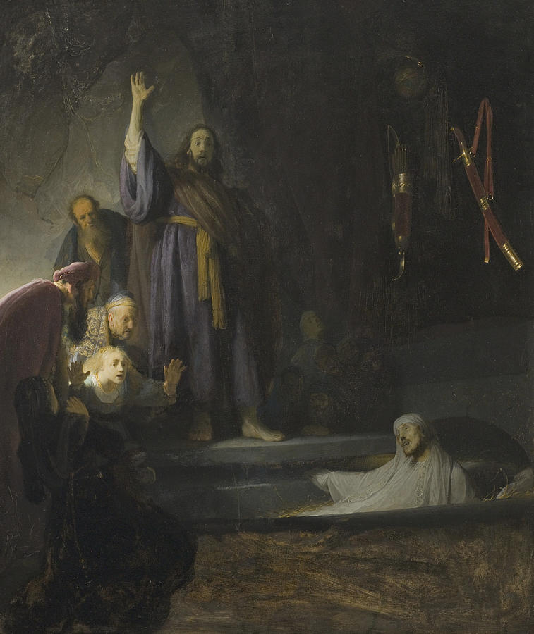 Rembrandt Painting - The Raising Of Lazarus by Rembrandt