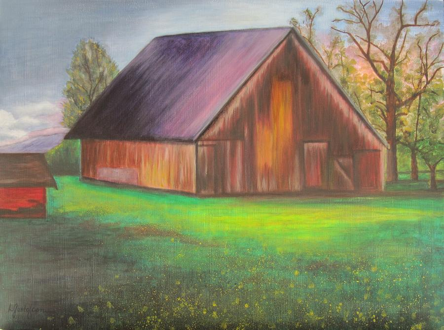 Oil Painting - The Ranch by Leslie Gustafson