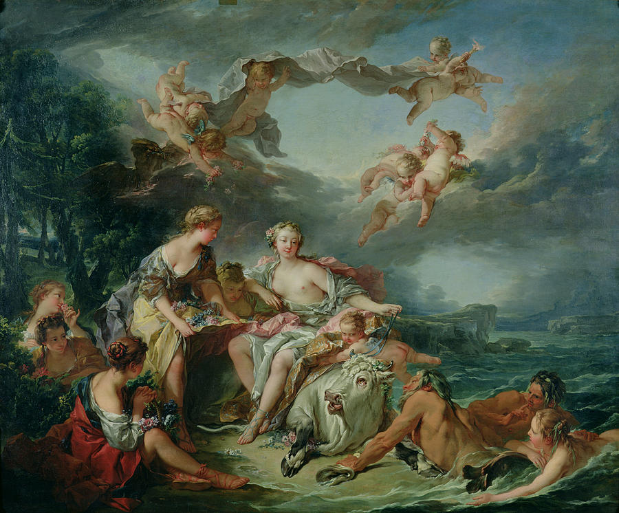 The Painting - The Rape Of Europa by Francois Boucher