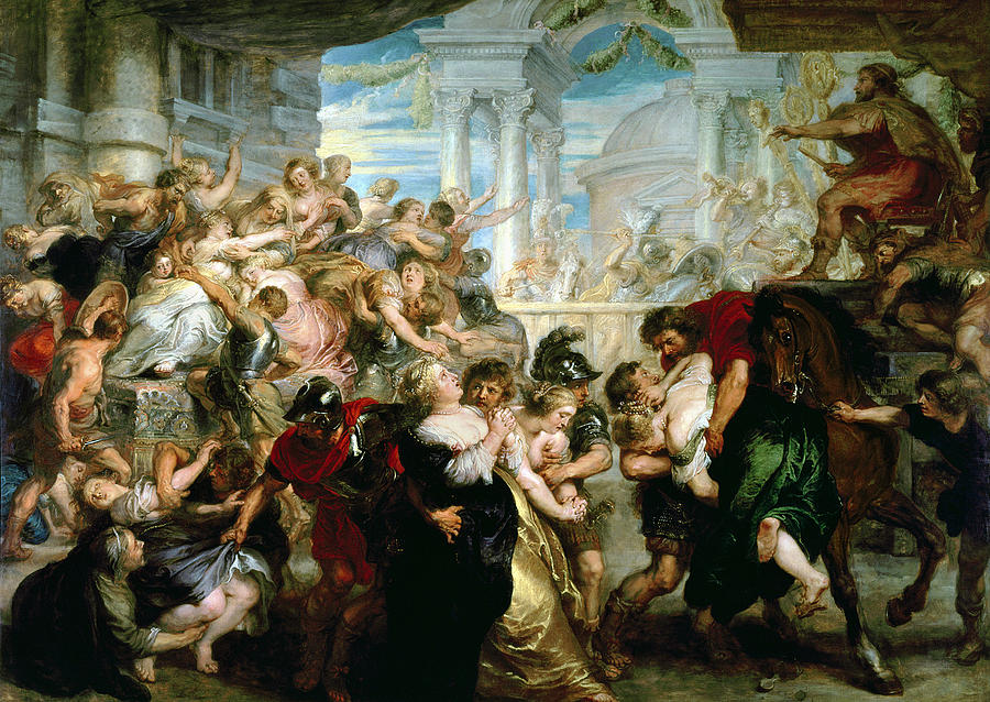 Rubens Painting - The Rape Of The Sabine Women by Peter Paul Rubens