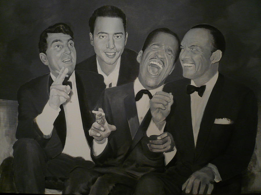 Rat Pack Painting - The Rat Pack  Unfinished by Anthony  Gambucci