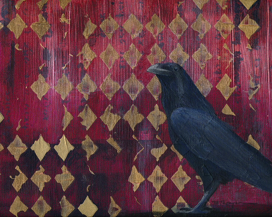 Raven Painting - The Raven by Mary Elizabeth Thompson