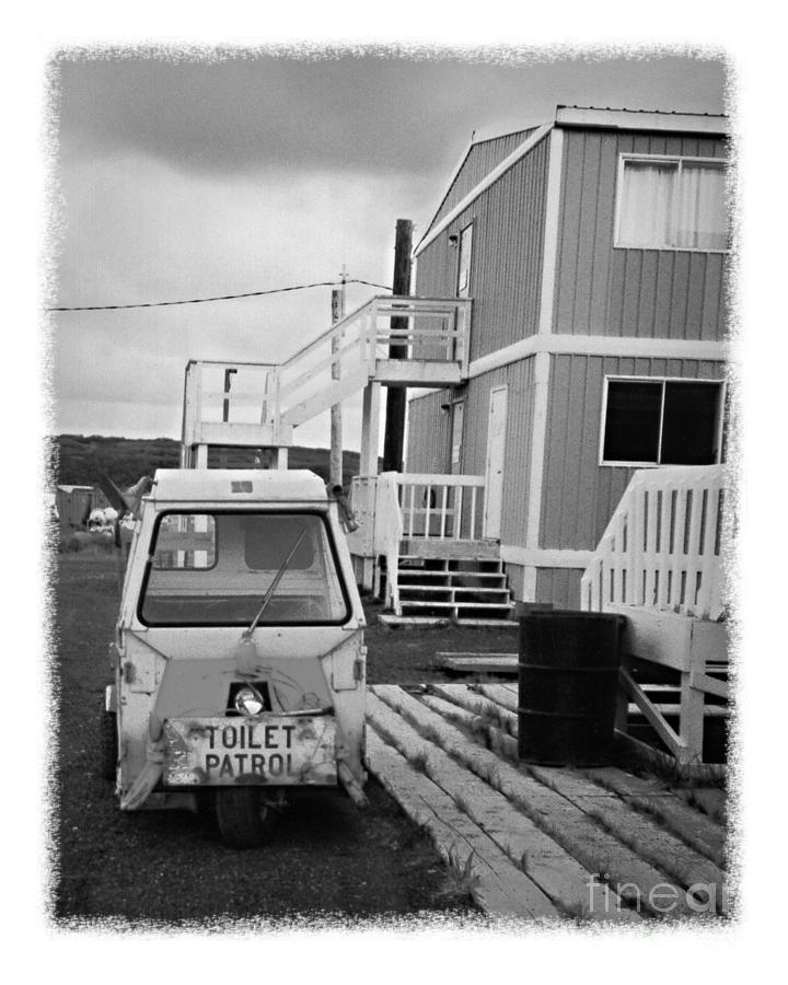 Alaska Photograph - The Real Alaska - Toilet Patrol by Pete Hellmann