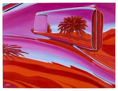 Car Painting - The Real Scoop On Shelby - Inaugural  Las Vegas Concours Poster Art by Lynn Masters