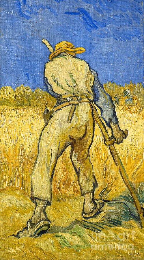 the reaper painting by vincent van gogh