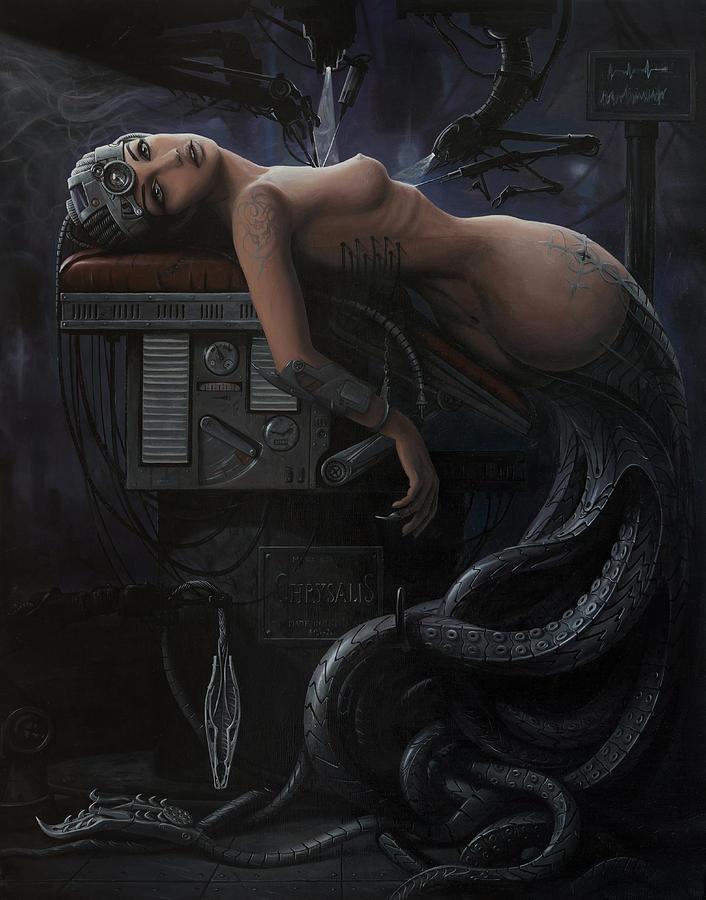 Woman Painting - The Rebirth Of A Myth by Adrian Borda