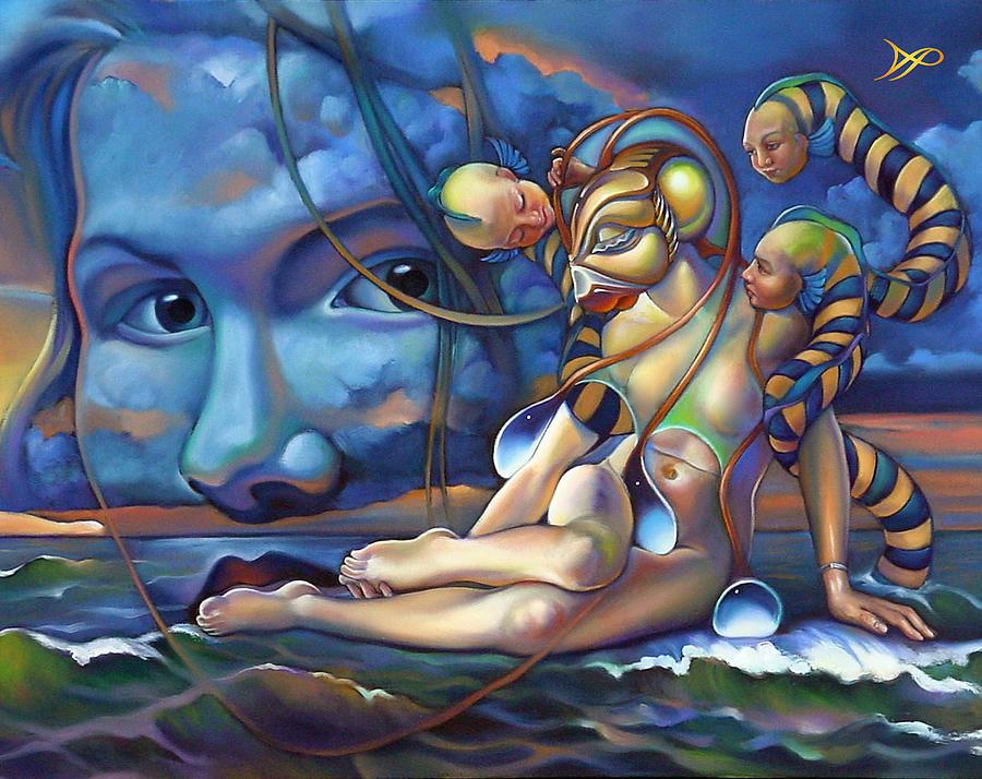 Mermaid Painting - The Rebirth Of Venus by Patrick Anthony Pierson