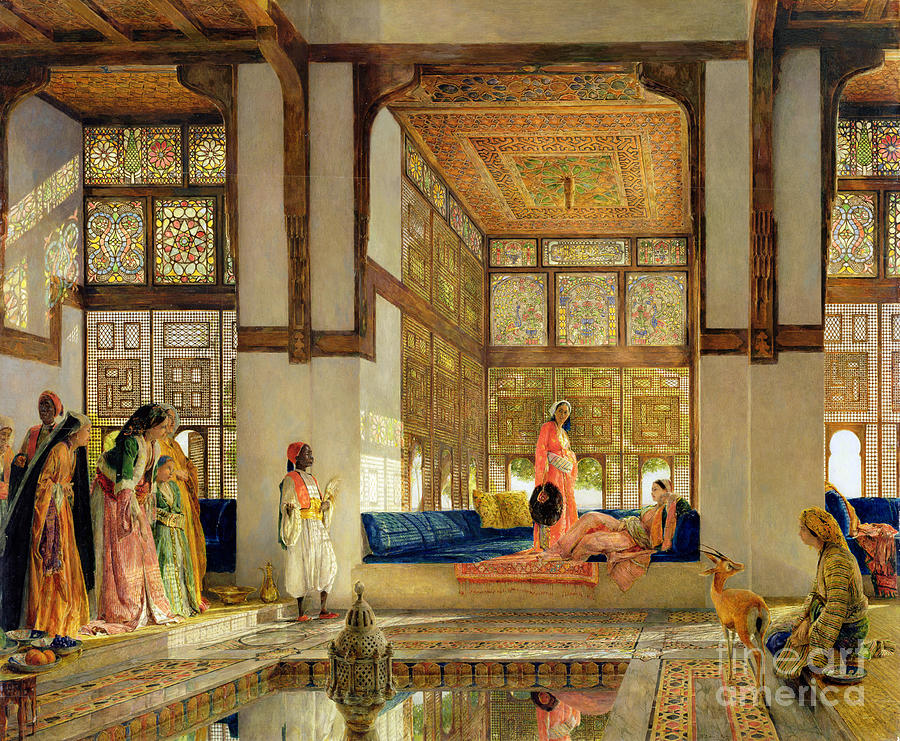 The Painting - The Reception by John Frederick Lewis