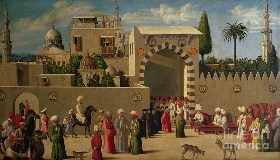 Venetian Painting - The Reception Of Domenico Trevisani In Cairo by Italian School
