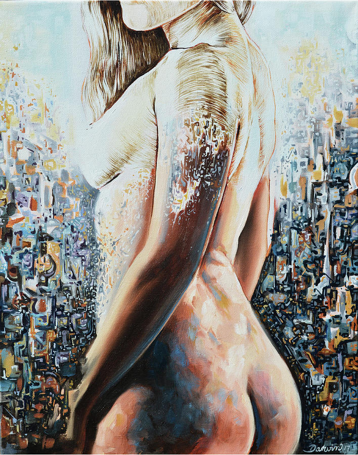 Women Painting - The recontruction of aestheticism II by Darwin Leon