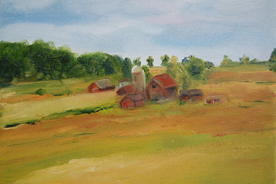 Barn Painting - The Red Barn by Lisa Konkol