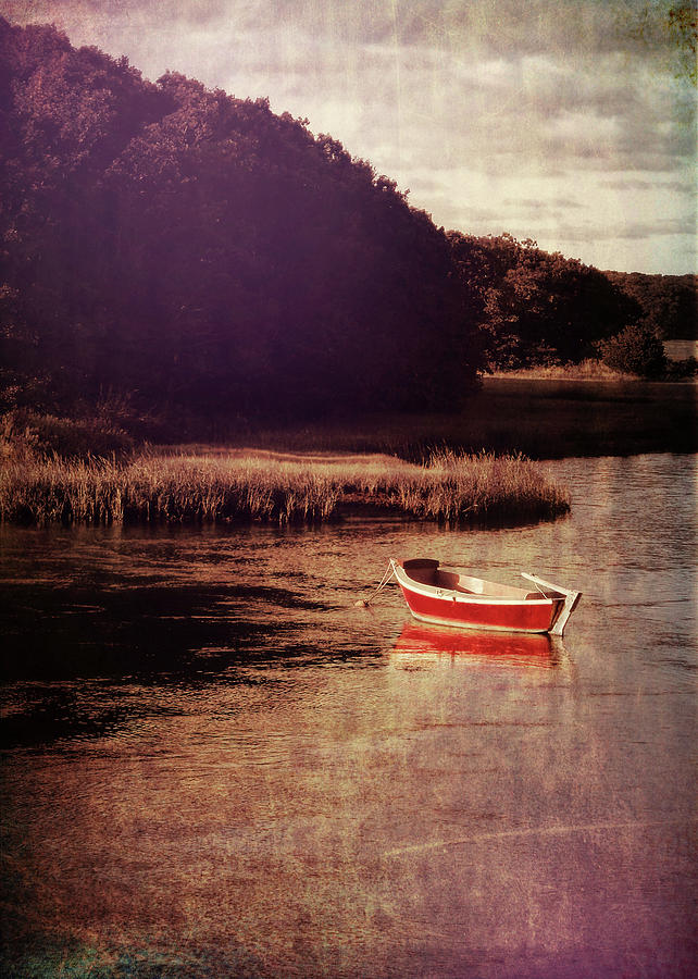 Boat Photograph - The Red Boat by JAMART Photography