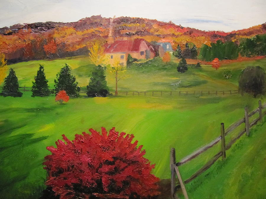 Bush Painting - The Red Bush by Gloria Condon