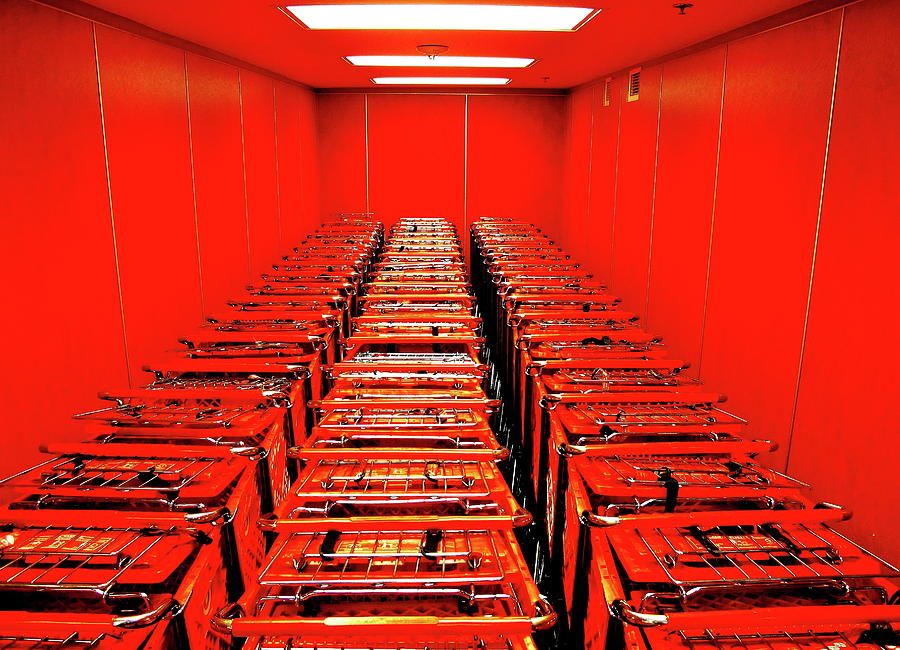 Shopping Carts Photograph - The Red Cart Room by John King