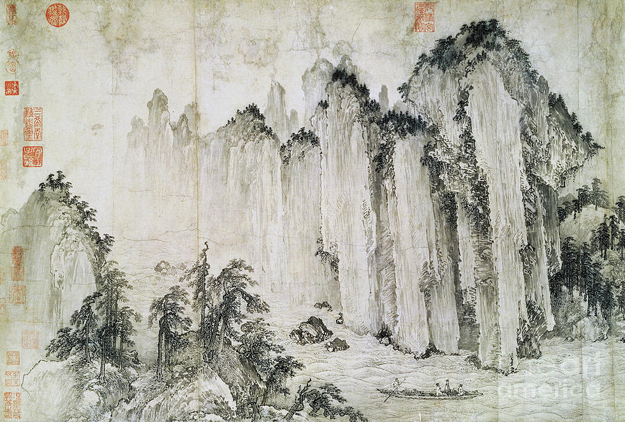 China Painting - The Red Cliff by Wu Yuanzhi