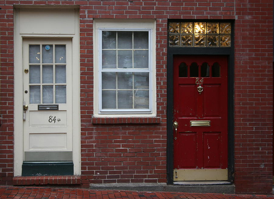 Cityscape Photograph - The Red Doors Of Boston 1 by Julie Lueders & The Red Doors Of Boston 1 Photograph by Julie Lueders