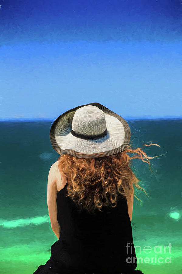 Red Headed Girl Photograph - The Red Headed Girl In A Hat by Sheila Smart Fine Art Photography