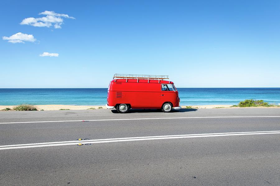 Palm Beach Photograph - The Red Kombi by Simon Rae
