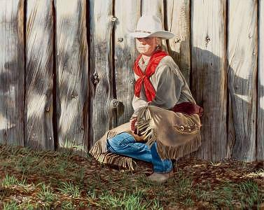 The Red Scarf Painting by Ann Hanson