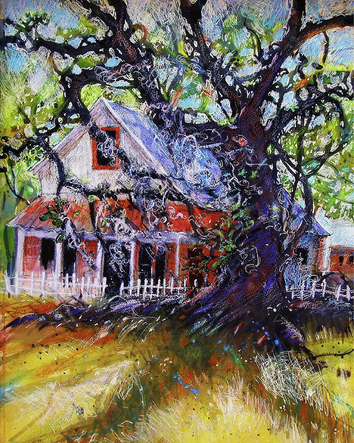 House Painting - The Red Store by Gertrude Palmer