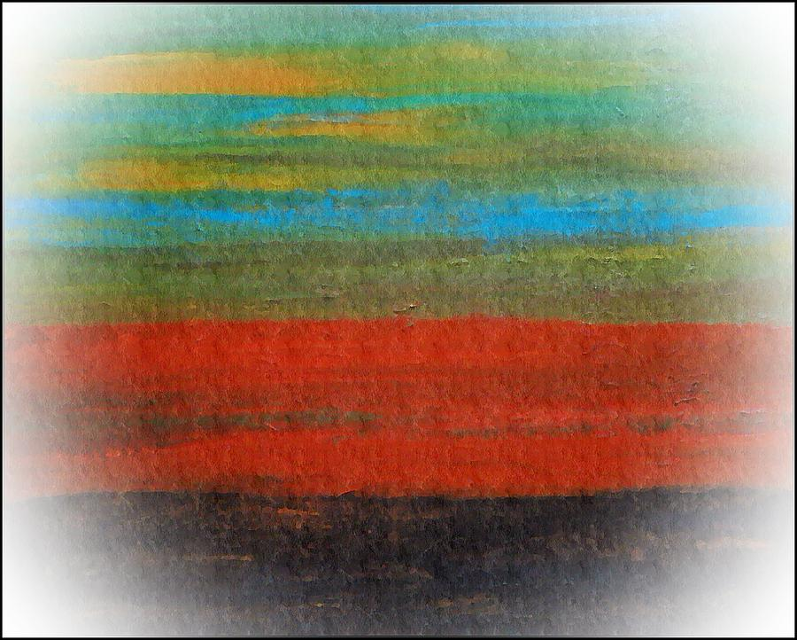 Abstract Expressionism Mixed Media - The Red Stripe -or- Meditation Number 28 by Scott Haley