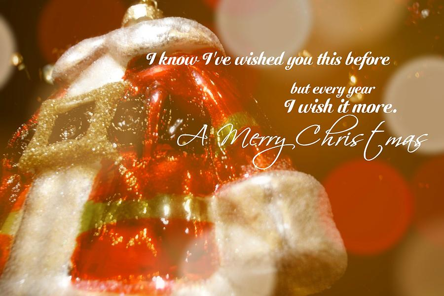 Santa Photograph - The Red Suit Quote by JAMART Photography