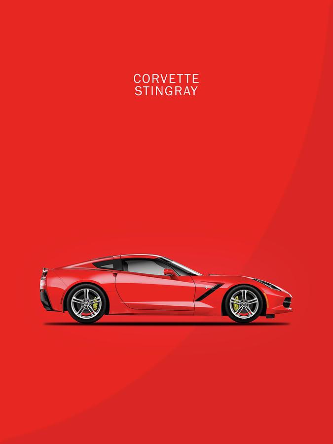 Corvette Stingray Photograph - The Red Vette by Mark Rogan