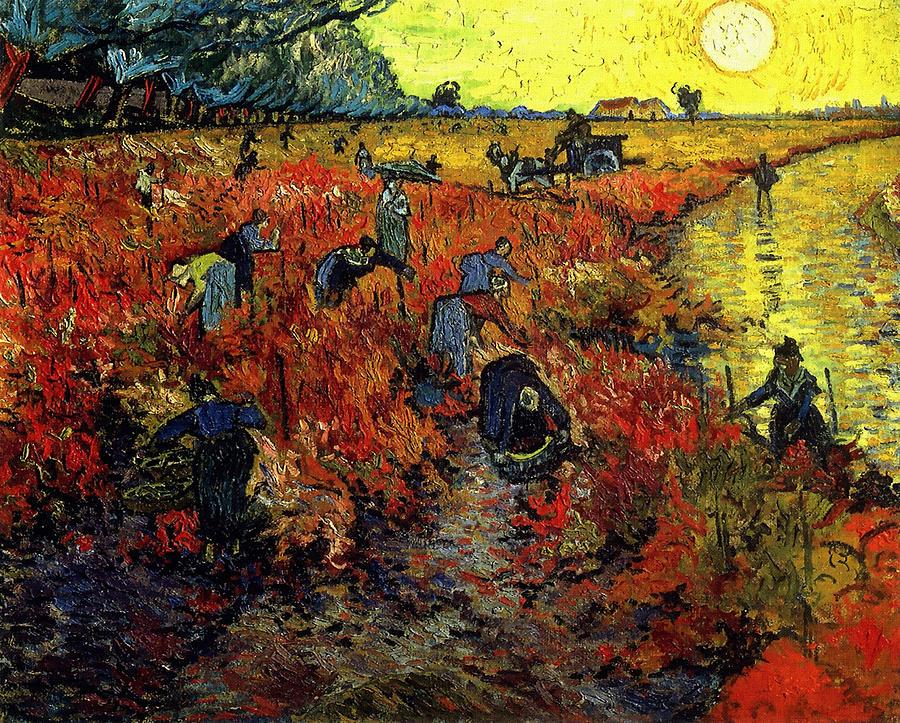 Van Gogh Painting - The Red Vineyard At Arles by Van Gogh