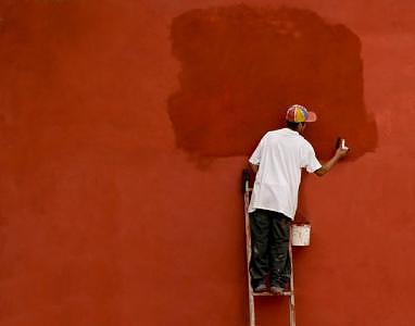 Mexico Photograph - The Red Wall     by Jane Baron