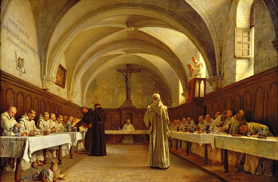 The Painting - The Refectory by Theophile Gide