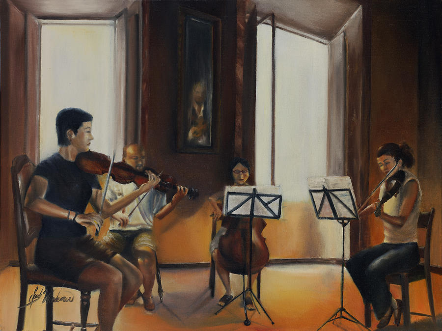 Oil Painting - The Rehearsal by Leah Wiedemer
