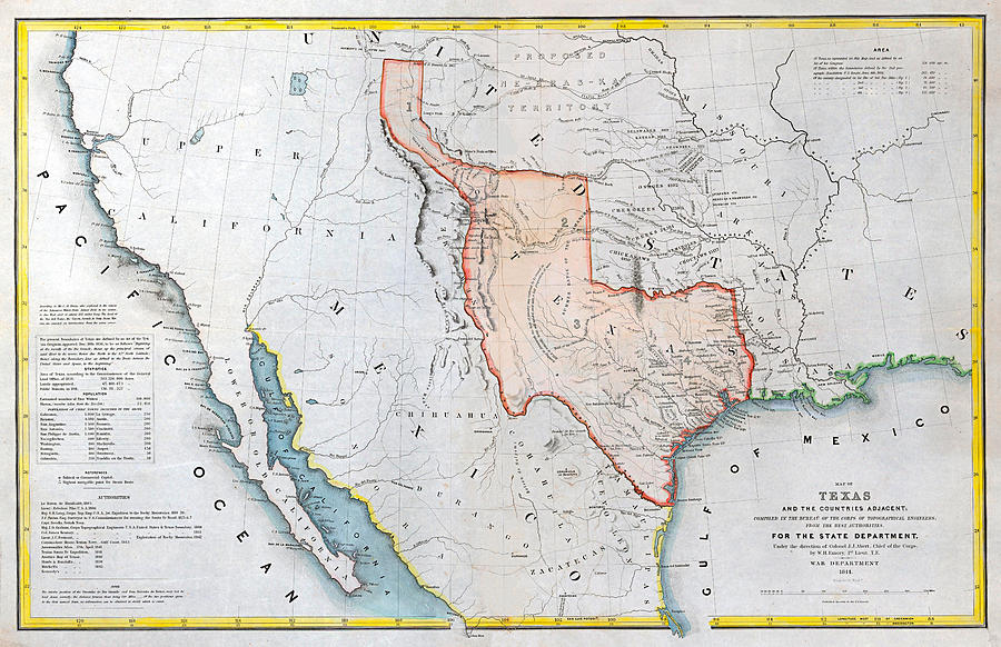 The Republic of Texas, 1844 by Texas Map Store